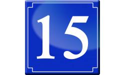 Sticker / autocollant : numéroderue15 - classique