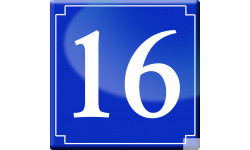 Sticker / autocollant : numéroderue16 - classique