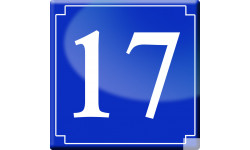 Sticker / autocollant : numéroderue17 - classique