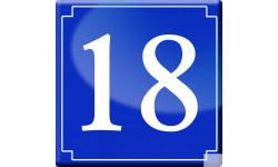 Sticker / autocollant : numéroderue18 - classique