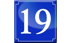 Sticker / autocollant : numéroderue19 - classique