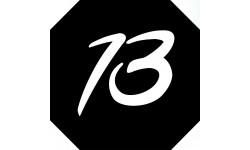 Sticker / autocollant : numéroderue13 - architecte