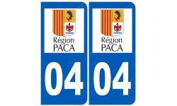numero immatriculation 04 region