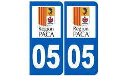 numero immatriculation 05 region