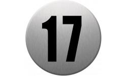 Sticker / autocollant : numéroderue17 - gris brossé