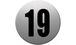Sticker / autocollant : numéroderue19 - gris brossé