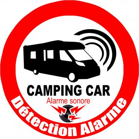 Sticker / Autocollant : Alarme pour camping car - 10cm