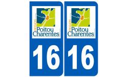 Sticker / autocollant : numéro immatriculation 16 région