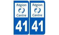 Sticker / autocollant : numéro immatriculation 41 région