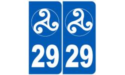 numero immatriculation 29 trisckel (Finistère)