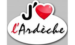 Sticker / autocollant : j'aime l'Ardèche