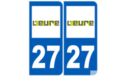 Sticker / autocollant : numéro immatriculation 27 (Eure)