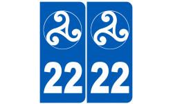 numero immatriculation 22 triskel (Côtes-d'Armor)