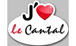 Sticker / autocollant : j'aime le Cantal