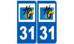 Sticker / autocollant : numéro immatriculation 31 (Haute-Garonne)