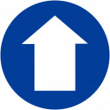 Sticker / autocollant : sens de direction - 20cm