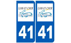 Sticker / autocollant : numéro immatriculation 41 (Loir-et-Cher)