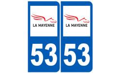numero immatriculation 53 (Mayenne)