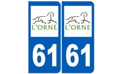 numero immatriculation 61 (Orne)