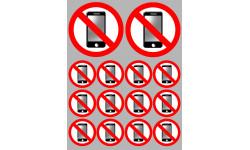 Stickers / autocollants éteindre son smartphone 3