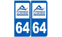 numero immatriculation 64 (Pyrénées-Atlantiques)