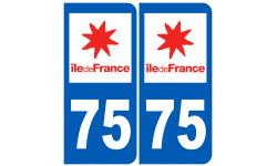 numero immatriculation 75 (Paris)