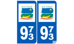 numero immatriculation 973 (Guyane)