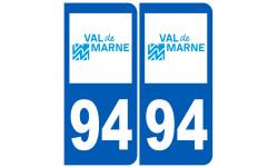 Sticker / autocollant : numéro immatriculation 94 (Val-de-Marne)