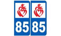 Sticker / autocollant : numéro immatriculation 85 (Vendée)