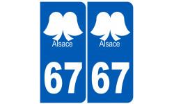 numero immatriculation 67 (Bas-Rhin) coiffe Alsacienne