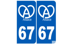 numero immatriculation 67 (Bas-Rhin) Alsacien