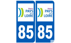 Sticker / autocollant : numéro immatriculation 85 (région)