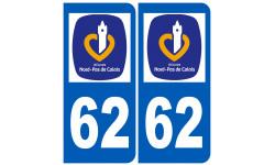 Sticker / autocollant : numéro immatriculation 62 (région)