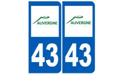 numero immatriculation 43 (region)