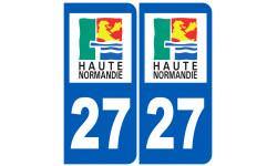 Sticker / autocollant : numéro immatriculation 27 (région)