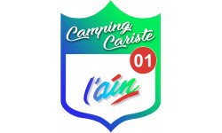Sticker / autocollant : Camping car l'Ain 01 - 10x7.5cm
