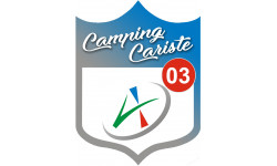 Sticker / autocollant : Camping car l'Allier 03 - 20x15cm