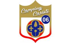 Sticker / autocollant : Camping car Hautes-Maritimes 06 - 15x11.2cm