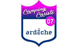 Sticker / autocollant : Camping car Ardèche 07 - 15x11.2cm
