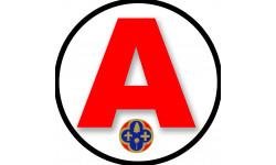 Sticker / autocollant : A 06 Les Alpes-Maritimes - 15cm