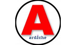 Sticker / autocollant : A 07 L'Ardèche - 15cm