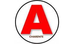 Sticker / autocollant : A 16 La Charente - 15cm