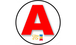Sticker / autocollant : A 21 La Côte-d'Or - 15cm