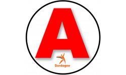 Sticker / autocollant : A 24 La Dordogne - 15cm