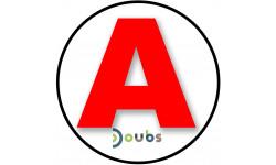 Sticker / autocollant : A 25 Le Doubs - 15cm