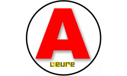 Sticker / autocollant : A 27 L'Eure - 15cm
