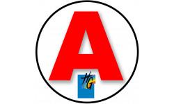 Sticker / autocollant : A 31 La Haute Garonne - 15cm