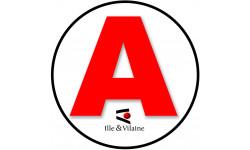 Sticker / autocollant : A 35 L'Ille & Vilaine - 15cm