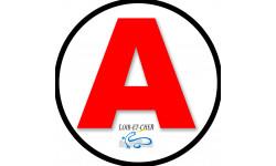 Sticker / autocollant : A 41 Le Loir et Cher - 15cm