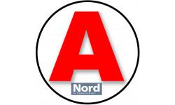Sticker / autocollant : A 59 Le Nord - 15cm